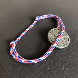 Parisien bracelet corde tricolore boussole Vent à la Française