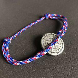 Français bracelet corde tricolore boussole Vent à la Française