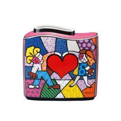 Heart Kids - Vase en porcelaine 17 cm, d après Romero Britto