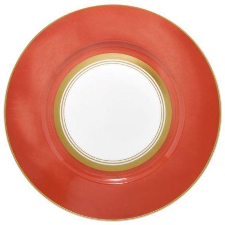 Cristobal Rouge - Raynaud - Assiette dîner 27 cm n°2 porcelaine