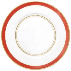 Cristobal Rouge - Raynaud- Assiette dîner 27 cm n°1 porcelaine