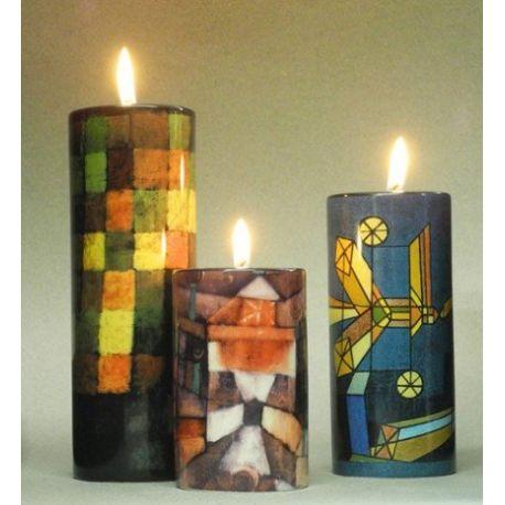 Paul Klee - Set de 3 bougeoirs, en céramique - Parastone