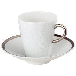 Minéral Platine - Raynaud Limoges Tasse à café 13 cl porcelaine