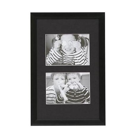 Cadre Design noir 2 photos 10x15cm ou 13x18cm - Deknudt Frames