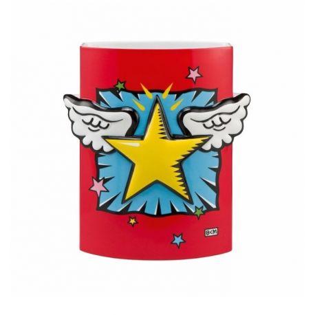 """Vase """"Super Star!"""" de Burton Morris 24 cm"""