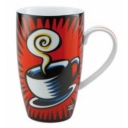 Coffee Break de Burton Morris Mug hauteur 15 cm 4 coloris