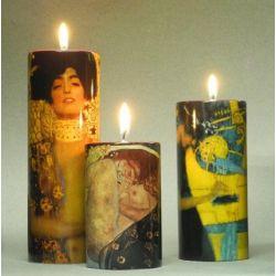 Gustav Klimt - Set de 3 bougeoirs, en céramique - Parastone
