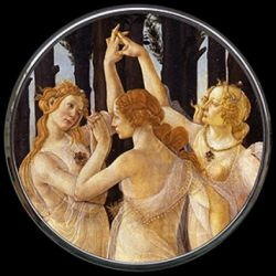 Le Printemps Botticelli - Miroir de poche refermable - Parastone
