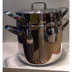 Menu Sambonet - Marmite cuit vapeur 24 cm inox 18/10