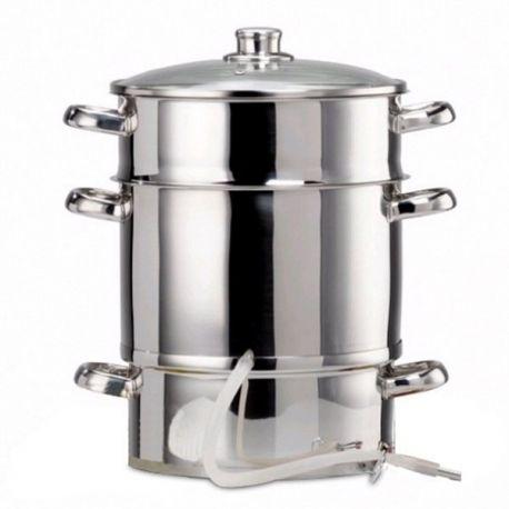 Extracteur de jus vapeur Baumalu 26 cm Induction Inox 18/10