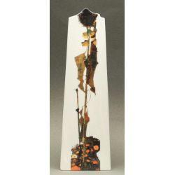 Tournesol d Egon Schiele - Vase en céramique 25 cm - Parastone