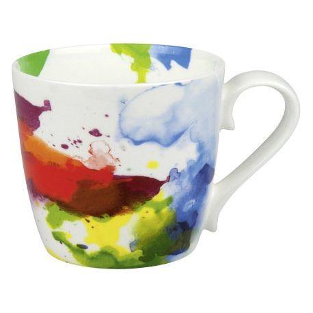 Flow On Colors - Mug en porcelaine avec anse - Konitz