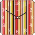 Smithy Square Dome Nextime Horloge murale carré 35 cm
