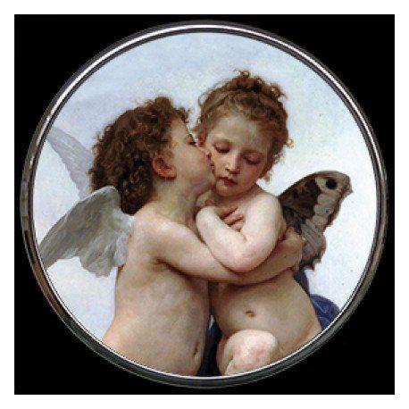 L Amour et Psyché de Bouguereau - Miroir de poche refermable