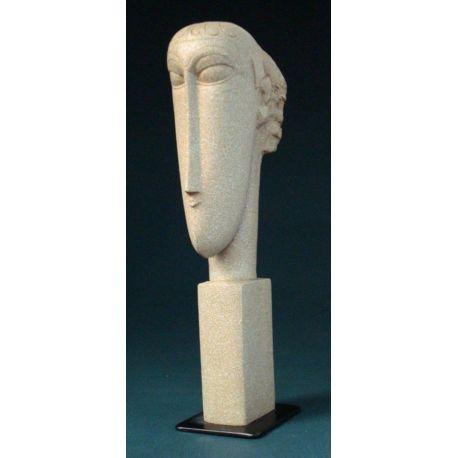 Tête de Modigliani - Reproduction en résine 23 cm- Parastone
