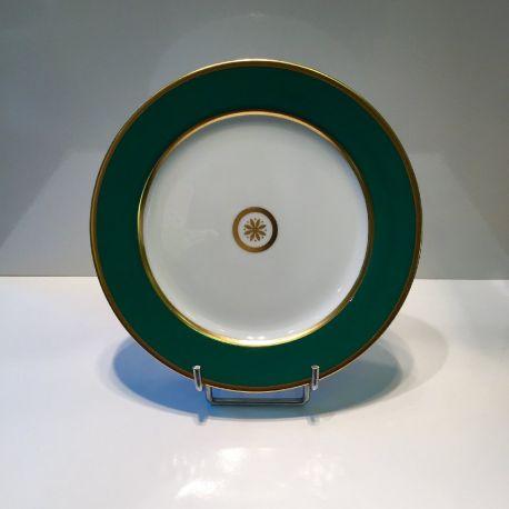 Assiette 21 et 26 cm Sparte Or Bernardaud Porcelaine