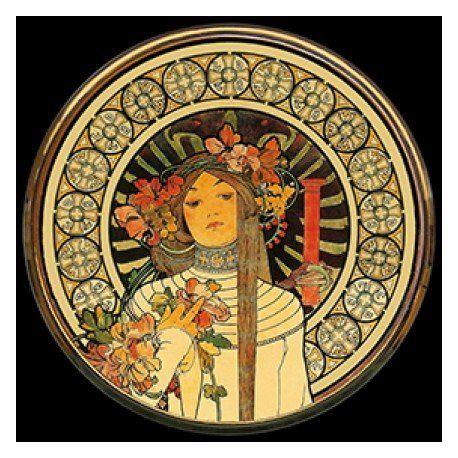La Trappistine d Alphonse Mucha - Miroir de poche refermable