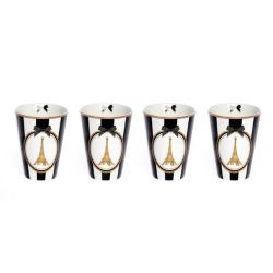 So Chic - Set 4 gobelets espresso en porcelaine - Foxtrot