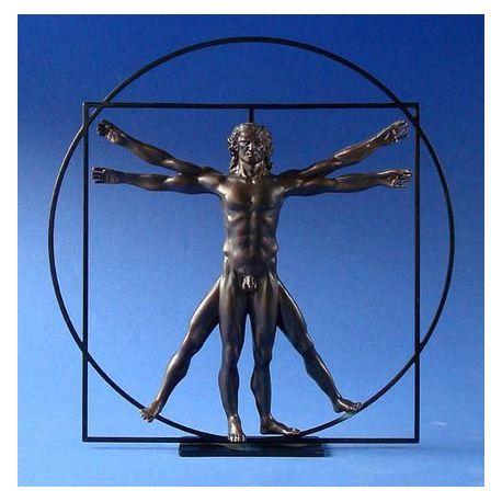 L homme de Vitruve Da Vinci - Statue 22 cm résine
