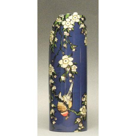 Bird with flowers Hokusai - Vase en céramique 19 cm