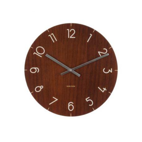 Wood clock horloge murale en verre 40 cm for Horloge murale verre