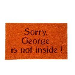 Georges is not inside - Paillasson coco et PVC 42x72cm - Foxtrot