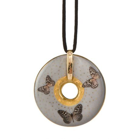 Pendentif reproduction d art en porcelaine Charlotte Grey Butterflies