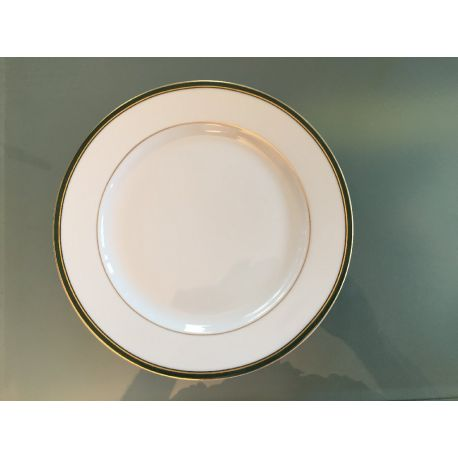 Assiette à dessert Nuagé Vert Anglais ou Sanguine