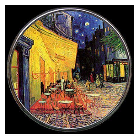 Terrasse du café le soir de Vincent Van Gogh - Miroir de poche