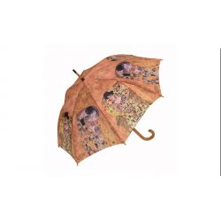 Le Baiser de Gustav Klimt - Parapluie canne, manche bois