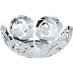 La Rosa corbeille Alessi inox 29 cm design Emma Silvestris