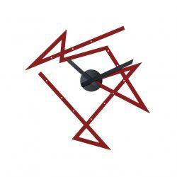Time Maze Alessi, horloge de Daniel Libeskind, acier laqué rouge