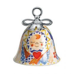 Boule Cloche de Noël Alessi porcelaine Holy Family Jésus