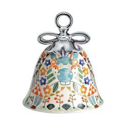 Boule Cloche de Noël Alessi porcelaine Holy Family Âne