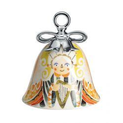 Boule Cloche de Noël Alessi porcelaine Holy Family Ange