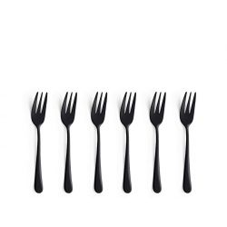 Austin Amefa 6 fourchettes à gâteau noir mat, cuivre ou or