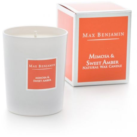 Max Benjamin bougie parfumée Mimosa & ambre huiles essentielles