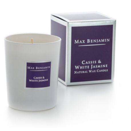 Max Benjamin bougie parfumée Cassis & Jasmin blanc naturelle 40h