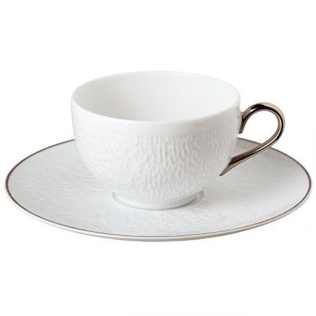 Minéral Platine - Raynaud Limoges Tasse à thé 25 cl porcelaine