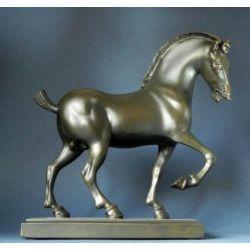 Cheval Leonardo Da Vinci - Statue 24cm résine bronze - Parastone