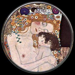Les Trois âges de Gustav Klimt - Miroir de poche refermable
