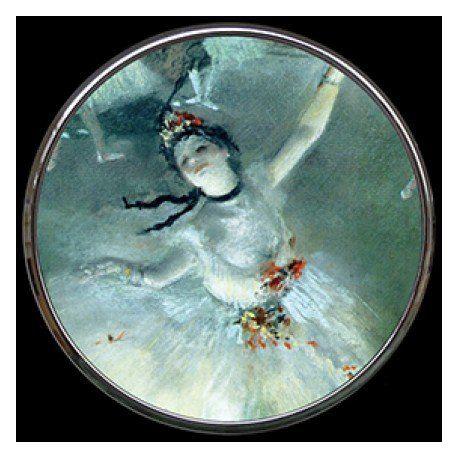 Danseuse sur scène d Edgar Degas - Miroir de poche refermable