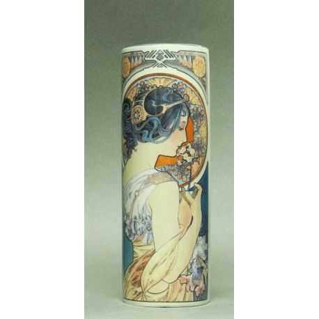Primrose & Feather d Alphonse Mucha - Vase 18cm
