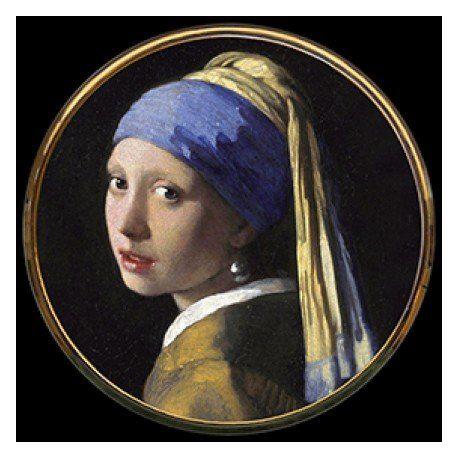 Jeune fille à la perle de Vermeer - Miroir de poche refermable