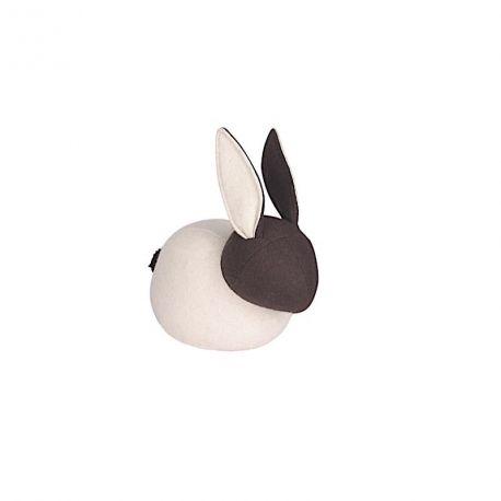 Bob le lapin Bloque porte en feutre crème