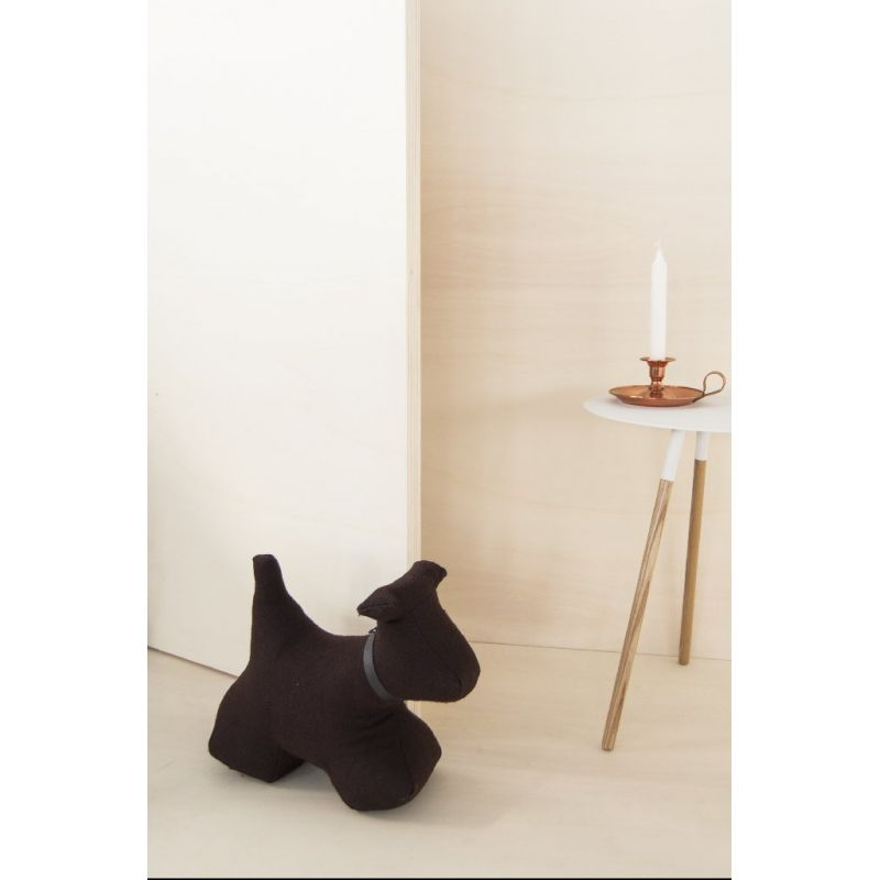 max le chien monica richards bloque porte xl en feutre noir cottel. Black Bedroom Furniture Sets. Home Design Ideas