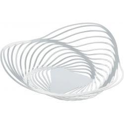 Trinity corbeille Alessi inox, blanc design Adam Cornish