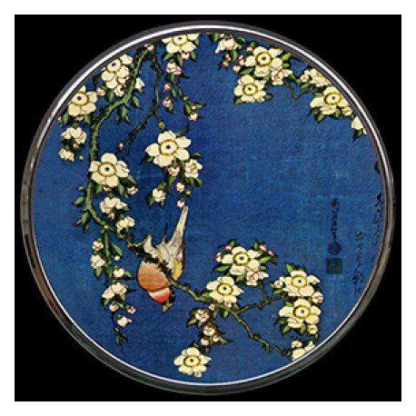 Bird and Blossoms de Hokusai - Miroir de poche refermable
