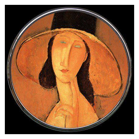 """Miroir de poche """"Jeanne Hébuterne"""" de Modigliani"""