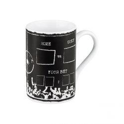 Pari sportif, mug en porcelaine Könitz avec craie, 37,3 cl